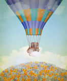 Elephant in the balloon. royalty free illustration
