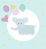 Elephant and balloons cartoon childhood style vector Royalty Free Stock Photography