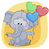 Elephant with balloons Stock Photos
