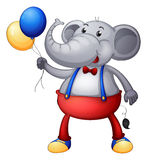 An elephant with balloons Royalty Free Stock Image
