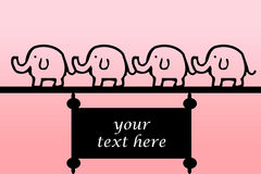 Elephant banner Stock Photography