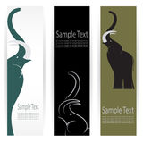 Elephant banners Royalty Free Stock Photos