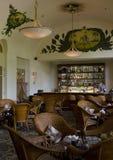 Elephant Bar - Le Royal Hotel. Raffles Le Royal hotel - Elephant Bar - interior displays a colonial look stock photo