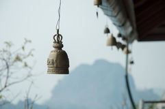 Elephant bell. At Pagoda on top of temple on the mountain Royalty Free Stock Images