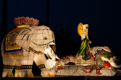 Elephant big lantern light festival Yeon Deung Hoe Stock Images