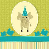 Elephant in Birthday Card Royalty Free Stock Image