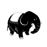 Elephant - black & white animal series Stock Photography