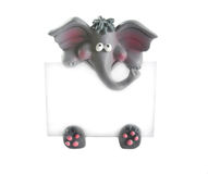 Elephant With Blank Sign Royalty Free Stock Photography