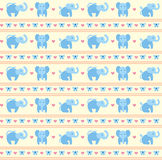 Elephant Blue Fun Pattern Stock Photos