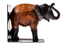 Elephant bookend stock image