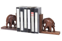 Elephant bookend Royalty Free Stock Photos