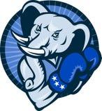 Elephant Boxing Gloves Democrat Mascot Stock Photos