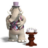 Elephant Bridegroom in tux Royalty Free Stock Photo