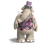 Elephant Bridegroom in tux Stock Images