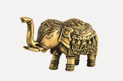 Elephant from bronze. Royalty Free Stock Photography