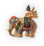 The elephant brooch Royalty Free Stock Photo