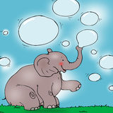 Elephant with bubbles. Royalty Free Stock Photo