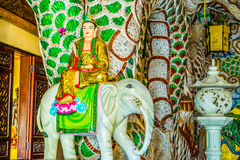 Elephant with Buddha decoration at Buddhist temple Royalty Free Stock Photography