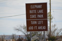 Elephant Butte Royalty Free Stock Photography