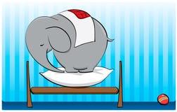Elephant calf. Sleeping on a pillow Royalty Free Stock Photography