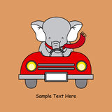 Elephant in a car Stock Photography