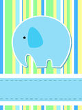 Elephant card Royalty Free Stock Image