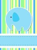 Elephant card Royalty Free Stock Image