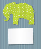 Elephant card. Decorative text card/invitation with collage Elephant Royalty Free Stock Photo