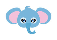 Elephant Carnival Mask. Big Animal with Large Ears Royalty Free Stock Photography