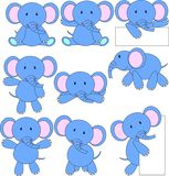 Elephant cartoon. Illustration of elephant cartoon set collection Stock Images