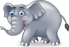 Elephant cartoon. Illustration of a happy elephant cartoon vector illustration