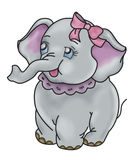 Elephant cartoon. Isolated on white background Vector Illustration
