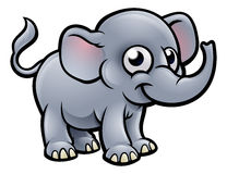 Elephant Cartoon Character Royalty Free Stock Photo