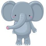 Elephant cartoon character. Funny elephant cartoon character, isolated Royalty Free Stock Photo