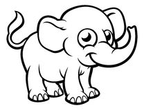Elephant Cartoon Character Stock Photos