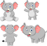 Elephant cartoon collection set. Illustration of Elephant cartoon collection set Royalty Free Stock Images
