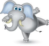 Elephant cartoon dancing Royalty Free Stock Photography