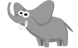 Elephant cartoon. Funny elephant cartoon posing illustration Stock Image