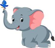 Elephant cartoon. Illustration of cute elephant cartoon Stock Illustration