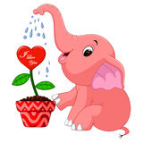 Elephant cartoon. Illustration of cute elephant cartoon Vector Illustration