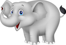 Elephant cartoon. Illustration of Elephant cartoon standing vector illustration