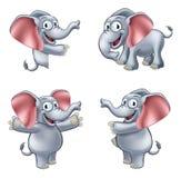 Elephant Cartoon Masoct Stock Image