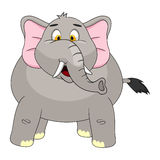 Elephant Cartoon Vector Illustration Stock Image