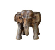 Elephant carved on white. Royalty Free Stock Photo