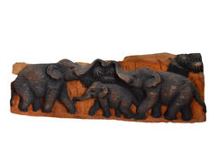 Elephant carving Stock Photo