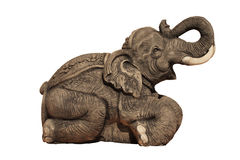 Elephant Carvings Royalty Free Stock Photography