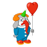 Elephant. Character. Evil clown with a balloon. Big collection of isolated elephants. Vector, cartoon. Elephant cute Nick. Elephant. Character. Evil clown with Royalty Free Stock Images