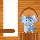Elephant on Childish Background Royalty Free Stock Photos