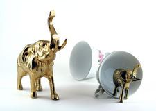 Elephant in a china store Royalty Free Stock Images