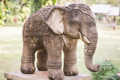 Elephant Clay Doll Decorated In Garden Stock Images